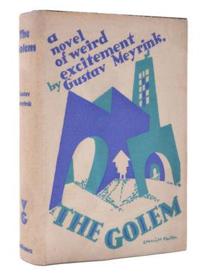 Gustav Meyrink, The Golem, first English edition, E McKnight Kauffer dust-jacket